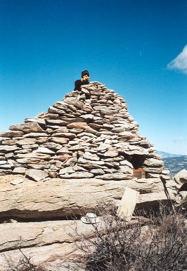 The HUGE cairn on Rincon Peak